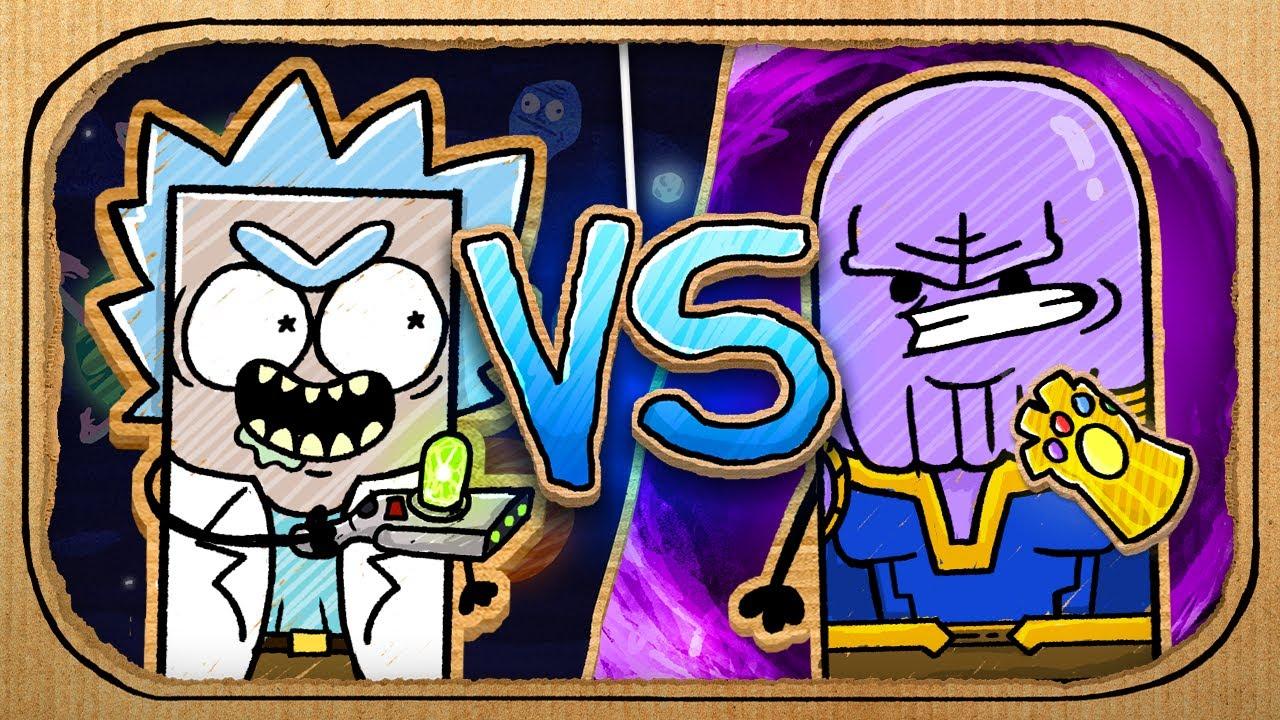 Rick vs Thanos (Cardboard Battle Arena)