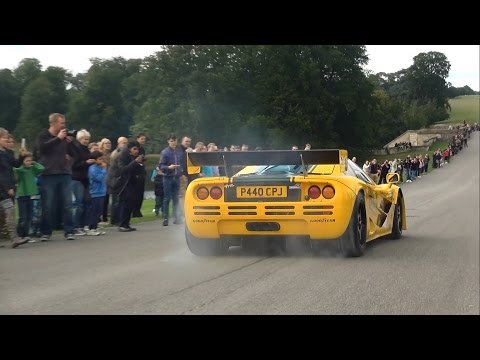 'Harrods' McLaren P1 GTR and F1 GTR amazing burnout, loud sounds and fail!!