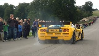 'Harrods' McLaren P1 GTR and F1 GTR amazing burnout, loud sounds and fail!!