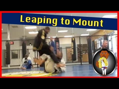BJJ Roll No. 90 - Jumping Leap to Mount - Bakari w/Gabe at Smiley Academy