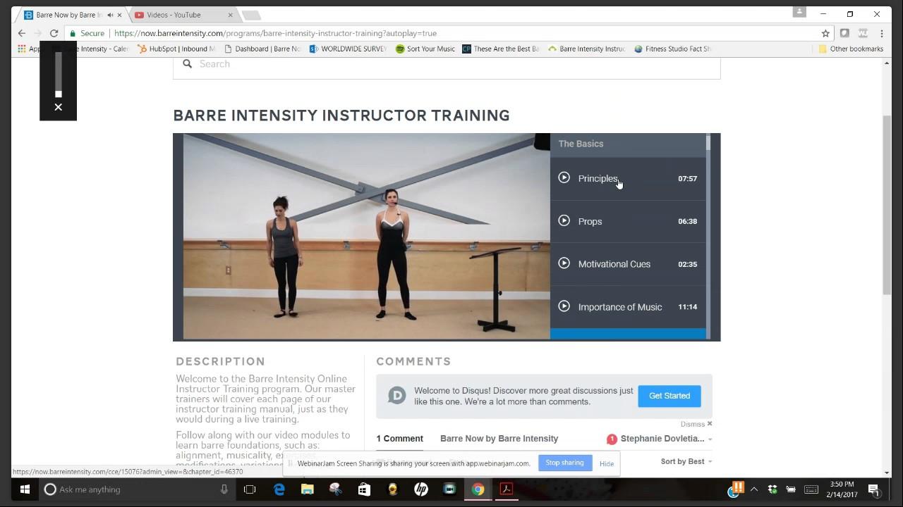 Inside Barre Intensitys Barre Certification Online Youtube