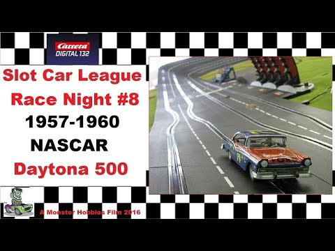 Carrera Slot Car 1957 1960 NASCAR Modified Daytona 500 race night #8