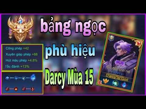 Top 1 Darcy Mùa 15 | Trang Bị - Phù Hiệu - Bảng Ngọc Chuẩn Nhất Cho Darcy