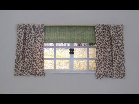1/12th Scale Dolls House Curtains & Blind Tutorial