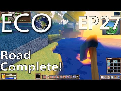 ECO | EP 27 | Road Complete! Plus Learning About Deeds | Multiplayer ECO Gameplay (S1)