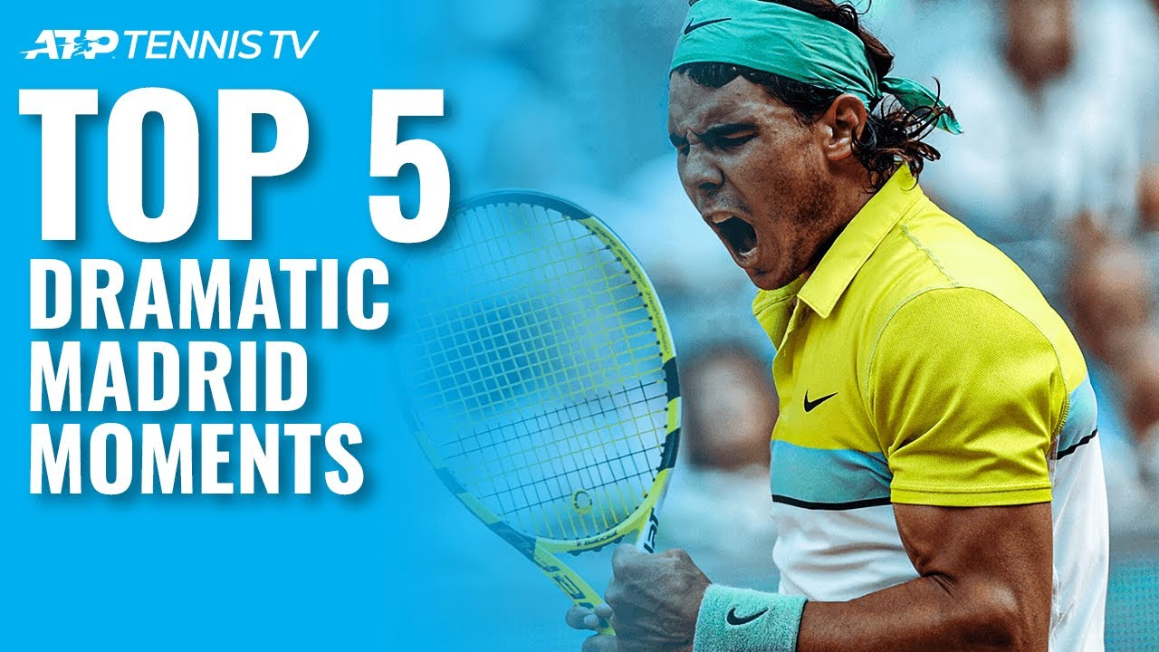 Top 5 Dramatic ATP Tennis Moments in Madrid!
