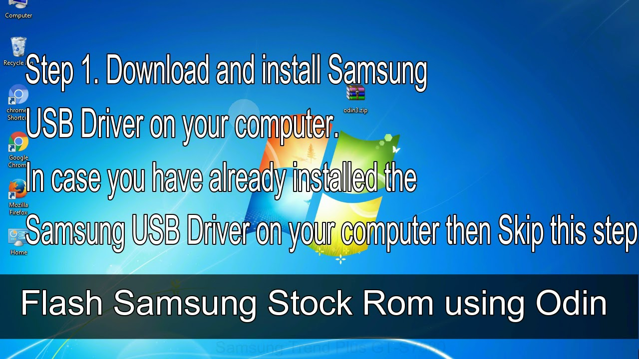 How to Samsung Galaxy Trend Plus GT S7580 Firmware Update (Fix ROM)