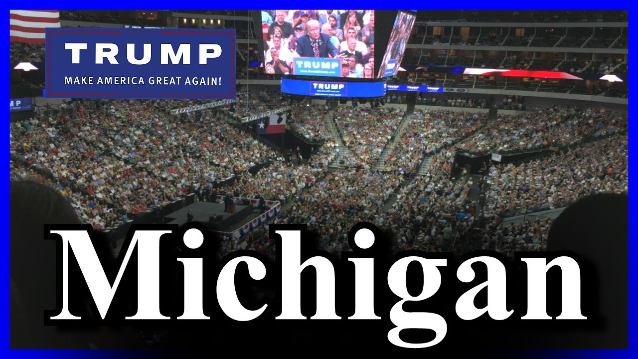 LIVE Donald Trump Warren Michigan Rally HUGE CROWD - FULL ...