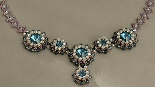 Download Video Sidonia's handmade jewelry - Blue Roses Necklace - Swarovski Necklace P1 MP3 3GP MP4