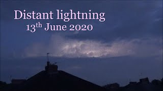 Distant thunderstorm over Liverpool, UK, seen from Manchester - 13 June 2020