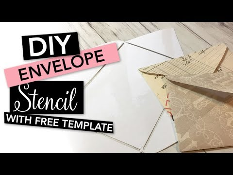 Letter Addressing Stencil.How To Make An Envelope Stencil With A Laminator Tutorial