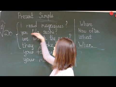 Как составить вопросительное предложение на английском языке present simple