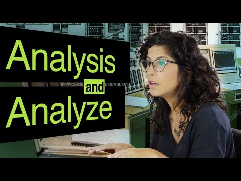 How to say analysis, analyses and analyze