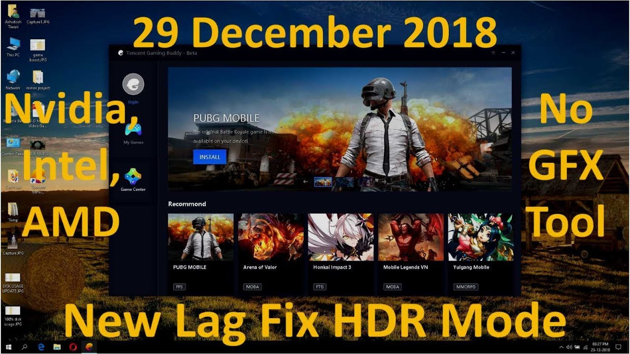 HDR Mode Lag Fix TGB (Tencent Gaming Buddy)