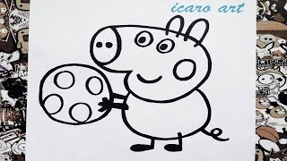 Como dibujar a george de peppa | how to draw george pig