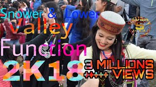 Lower snower association valley function 2018 skuncy kullu manali himachali latest song and dance