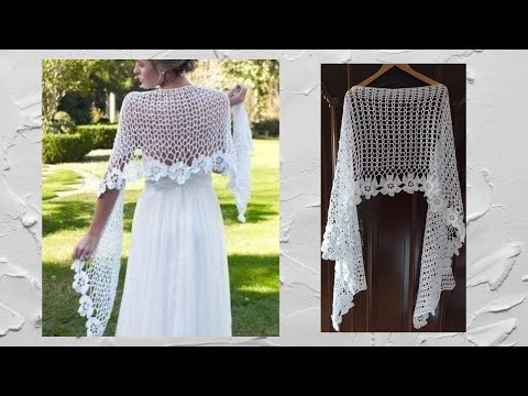 crochet chal shawl flores subtitles in several lenguage - YouTube