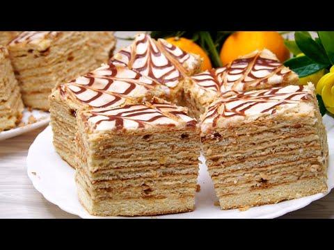 """ВСЕГО 3 ингредиента мука, сахар и сметана! Бомбический Торт """"Сметанник"""" на сковороде!"""
