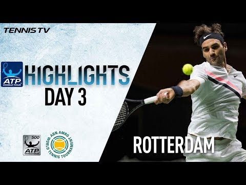 Highlights: Federer, Dimitrov Advance To Rotterdam 2018 QF