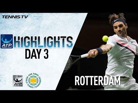 Highlights: Federer, Dimitrov Advance To Rotterdam 2018 QF