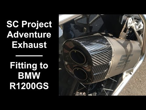SC Project Adventure Exhaust Part 1 - Factory Comparison and Fitting to BMW R1200GS