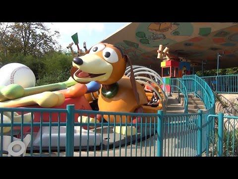 Toy Story Playland Overview at Walt Disney Studios, Disneyland Paris - RC Racer, Slinky Dog Zigzag