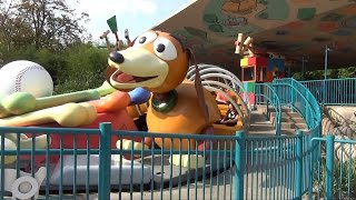 toy story playland overview at walt disney studios disneyland paris rc racer slinky dog zigzag