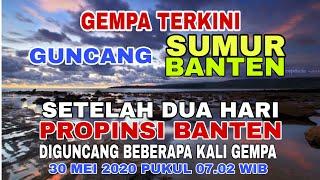 Gempa Terkini Guncang Sumur Banten, Setelah Dua Hari Banten Diguncang Beberapa Kali Gempa 30 Mei '20