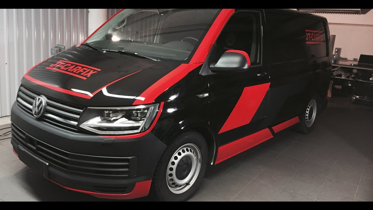 vw transporter t6 car wrapping youtube. Black Bedroom Furniture Sets. Home Design Ideas