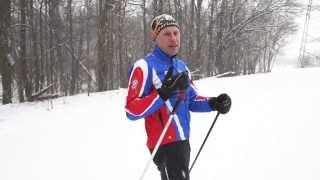 Беговые лыжи. Урок 4. Обучение коньковому ходу.