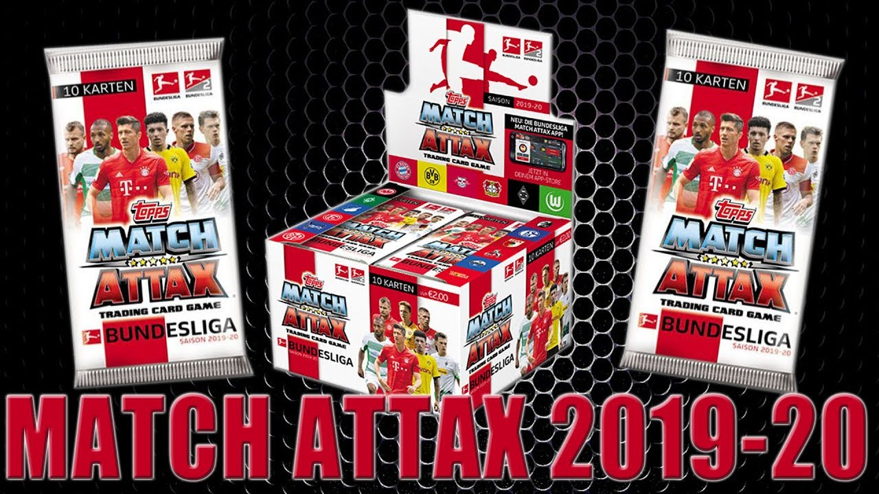 Topps MATCH ATTAX BUNDESLIGA 2019/20 | 50 BOOSTER PACKS | Unboxing