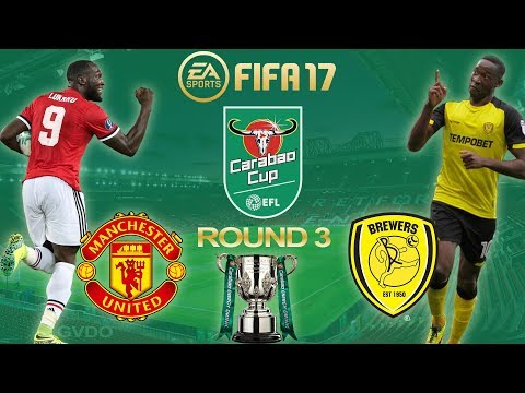 FIFA 17 | Manchester United vs Burton | Carabao Cup 3rd Round 2017/18 | PS4 Full Gameplay