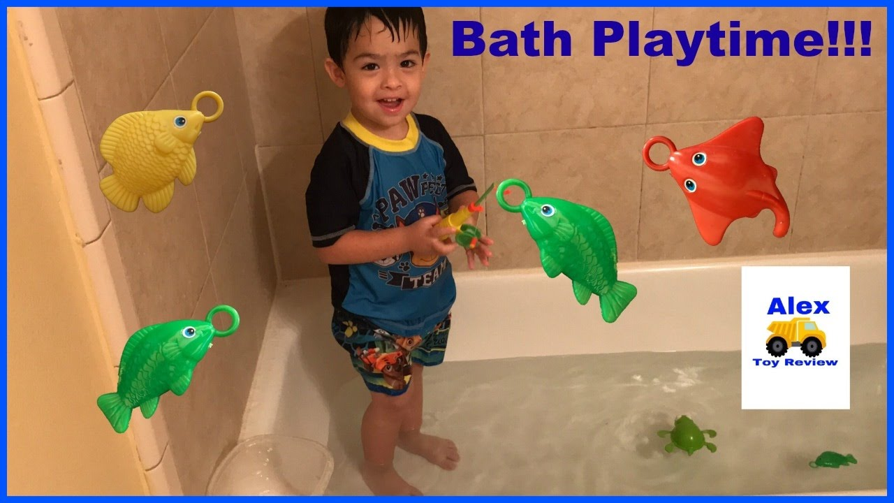 Let\'s Go Fishing Water Toys Bath Playtime Alex Toy Review - YouTube
