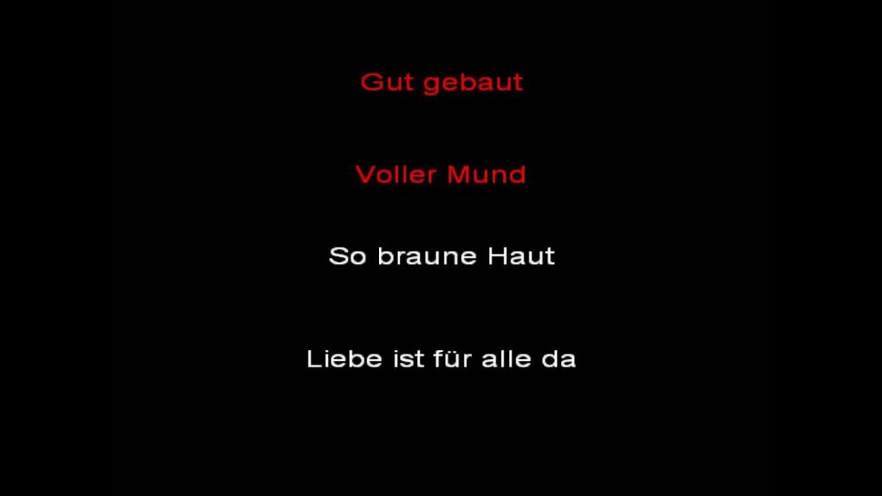 Rammstein Liebe Ist Fur Alle Da Instrumental With Lyrics Youtube
