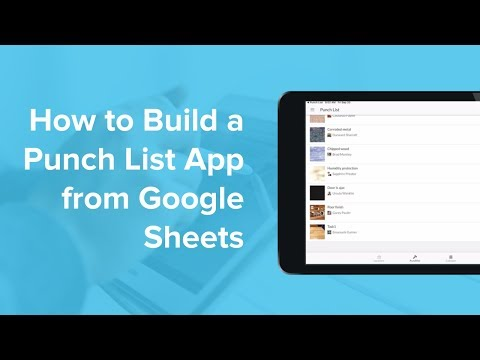 How to Build a Punch List App from Google Sheets thumbnail