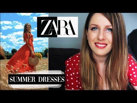 ZARA HAUL | 9 SUMMER DRESSES OOTD 2019