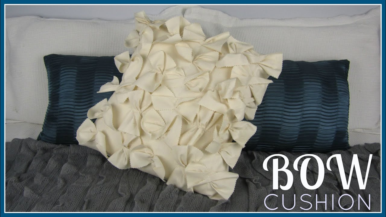 Step by Step Sewing DIY Bow Cushion Cover