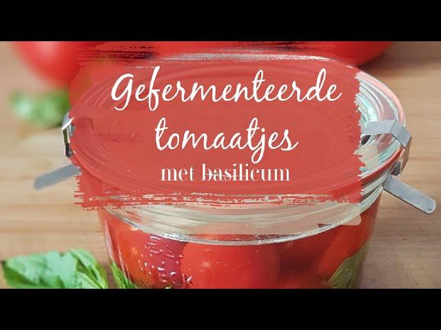 Gefermenteerde tomaatjes