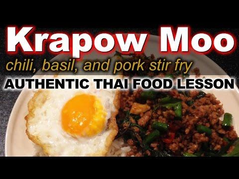Authentic thai recipe for krapow moo kai dow authentic thai recipe for krapow moo kai dow basil chili stir fry with ground pork forumfinder Image collections