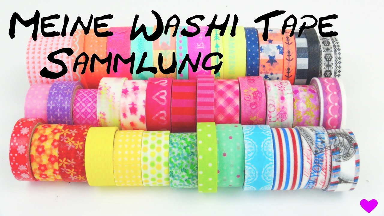 washi tape sammlung collection haul meine washi tape klebeband ideen diy deutsch youtube. Black Bedroom Furniture Sets. Home Design Ideas