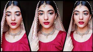 I Transform myself into a Desi Bride 😍 #Indianbride #makeup #grwm