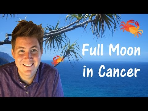 Cancer Full Moon 12 January 2017 | Gregory...