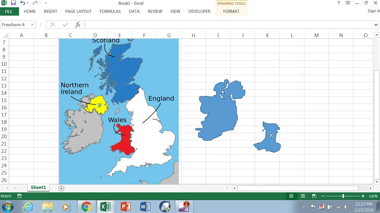 Creating A Dynamic Map In Excel -- Part 1 Of 4