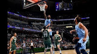 JaMychal Green Climbs The Ladder, Dunks All Over Ersan Ilyasova Who Tried Taking Charge
