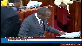 MOI BLOCKS SENATOR MUTULA KILONZO JNR FROM MOVING SOLAI DAM TRAGEDY REPORT   FOR ADOPTION BY THE SEN