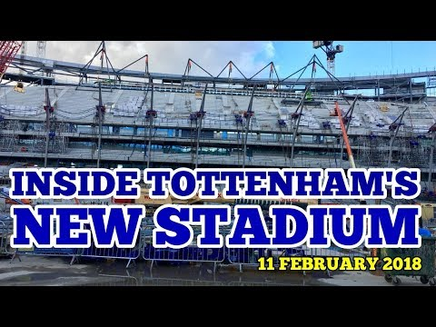 INSIDE TOTTENHAM'S NEW STADIUM: Exclusive Video & Pictures of the New Spurs Ground: 12 February 2018