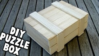 DIY Puzzle Box -  Can You Open It??