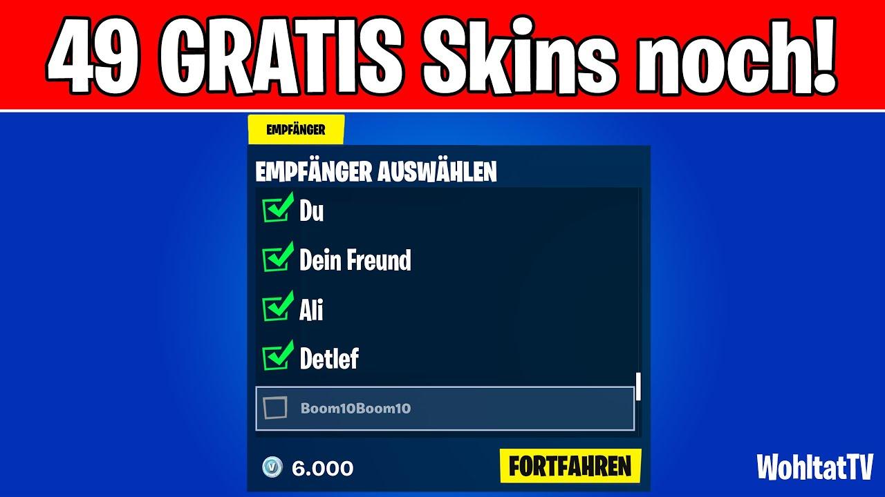 🎁 Nur noch 49 GRATIS Fortnite Skins! (Kostenlose Skins & Items bekommen mit Battle Pass Verlosung)