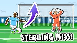 🤣THE STERLING MISS🤣 (Man City vs Lyon 1-3 Champions League 19/20 Quarter Final Goals Highlights)