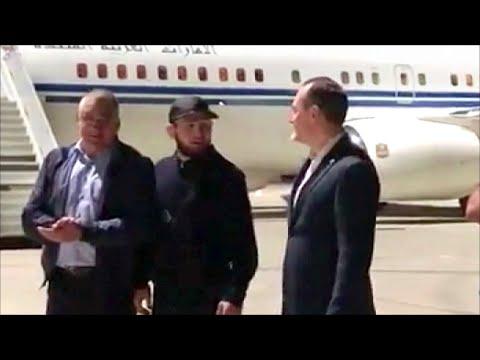 Чемпиона мира по смешанным единоборствам Хабиба Нурмагомедова торжественно встретили в Дагестане.
